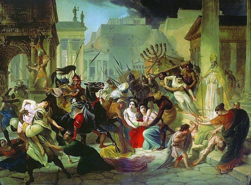 Karl Briullov - Genseric Sacking Rome
